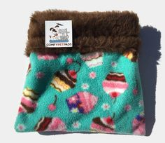 Cupcake Snuggle Sack, Hedgehog Cuddle Sack, Nesting Bed, Guinea Pig Bed, Hamster Bedding, Bonding Pouch, Carrier Pouch, Sugar Glider Pouch by ComfyPetPads on Etsy