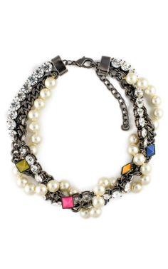 Classic Pyramid Pearls Necklace by Fenton - Moda Operandi