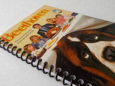 Notebook, 3.75 X 7.25, 35 pages, VHS Video Box, Upcycled Notebook, Gift Ideas, Spiral Notebook, Blank Book, Notepad, Drawing Pad, Beethoven by LeeEmporium on Etsy