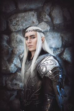 I'm just another Tolkien fan girl. All about the Elves. I have a broad view of Tolkien canon beyond The Silmarillion, The Lord of the Rings, and The Hobbit. If it is something Tolkien wrote about. Elf Cosplay, Elf Costume, Cosplay Makeup, Cool Costumes, Cosplay Costumes, Tolkien, Thranduil Cosplay, Hobbit Cosplay, Male Elf