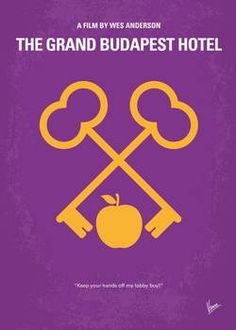 """""""My The Grand Budapest Hotel minimal movie po"""" by Chungkong Art: The adventures of Gustave H, a legendary concierge at a famous hotel from the fictional Republic of Zubrowka between the first and second World Wars, and Zero Moustafa, the lobby boy who becomes hi..."""