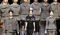 fall 2013 2014 trends SKIRT SUIT   Fall Winter 2014 fashion and color trends - Dolce and Gabbana women ...