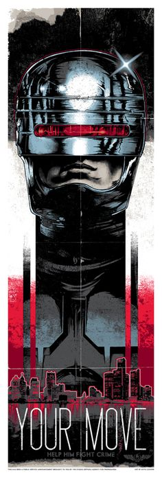 Robocop Poster Series by RHYS COOPER