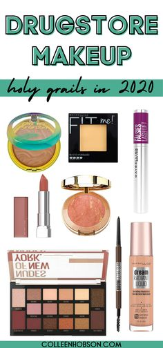 Check out our updated list of the best drugstore makeup products worthy of holy grail status in 2020. #best #drugstore #makeup #2020 Best Drugstore Makeup, Best Makeup Products, Makeup Tips 101, Best Cheap Makeup, Contour With Eyeshadow, Makeup Bag Essentials, Everyday Makeup Tutorials, Makeup Must Haves, How To Apply Makeup