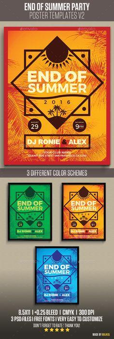 End of Summer Flyer Template PSD. Download here: http://graphicriver.net/item/end-of-summer-v2/14738522?ref=ksioks
