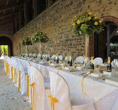 """Кейтеринг в Италии. """"Желтая"""" свадьба."""