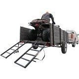 "46"" Black Dual Steel Utility Trailer ATV Loading Ramps Discount Ramps"
