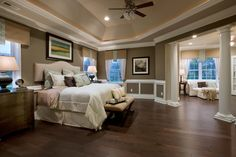 Toll Brothers Interior Designs..KEEPER: I REALLY LIKE THE FLOOR PLAN OF THIS MASTER SUITE,IT'S GREAT WAY TO ADD A SEPERATE SPACE FOR A SITTING AREA IN THE ROOM. IT DOESN'T INTRUDE THE ACTUAL BEDROOM SPACE,ALLOWS PRIVACY IN THE BEDROOM,THE SEPERATION ALLOWS USE OF BOTH SPACES THAT WON'T INTERFEAR W/SLEEPING,DOESN'T INTERFEAR W/DECOR'SAND IT'S VERY PRETTY. USE THIS FOR ARCHITECTURAL BLING&FLOORPLAN,,PERFECT SIZE 4 MASTER SUITE. Cherie