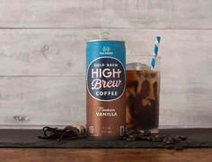 Fair-trade High Brew Coffee cold brew is actually delicious and easy for busy mornings. Flavors include Mexican Vanilla and Dark Chocolate Mocha!