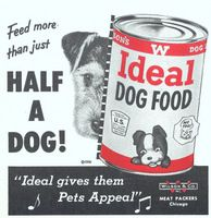 Wilson's Ideal Dog Food 1956 Ad Picture