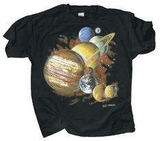 3f50d56b8 Men's Cotton Print T-shirt - Planets - Small. Fruit Of The LoomScience  TshirtsCottonMens ...