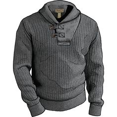 Shop Men's High-Neck Infantry Sweater at Duluth Trading Company. Ingenious products backed by our No Bull Guarantee. Mens Shawl Collar Sweater, Sweater Shirt, Men Sweater, Hipster Sweater, Dog Sweaters, Duluth Trading Company, Latest Mens Fashion, Men's Fashion, Fashion Ideas