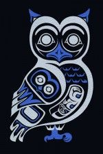 Owl III April White Native Symbols, Native American Symbols, Native American Design, American Indian Art, Native Art, Inuit Kunst, Inuit Art, Kunst Der Aborigines, Alaska