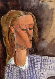 Amedeo Modigliani (1884 -1920) | Expressionism | Portrait of Beatrice Hastings - 1916