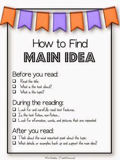 SIMPLE STEPS FOR HOW TO FIND MAIN IDEA