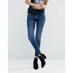 Pepe Jeans Aero Skinny Jeans ($100) ❤ liked on Polyvore featuring jeans, blue, denim skinny jeans, pepe jeans london, tall skinny jeans, low rise skinny jeans and super skinny jeans