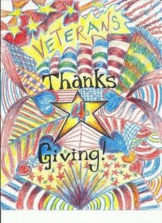 This is a lesson plan that honors Veterans Day.The template included can also be adjusted for Thanksgiving. Students can make their art work personal, and choose the person they would like to thank. The elements of design are the emphasis of this project. Happy Veterans Day Quotes, Veterans Day Images, Veterans Day Gifts, Veterans Day Poppy, Dream Cars, Veterans Day Coloring Page, Thanksgiving Art Projects, Veterans Day Celebration, Veterans Day Activities