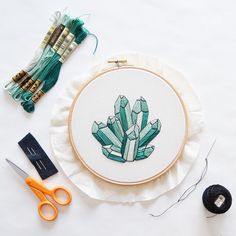 So happy to finally have DIY embroidery patterns! This mineral is only available for the month of March, so don't wait!