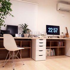 いいちこフラスコボトル/IKEA/Mac/イームズ/無印良品/ビカクシダ…などのインテリア実例 - 2015-04-05 23:02:26 | RoomClip(ルームクリップ)