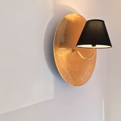 """""""Golden Plate"""" Wall Sconce by YanoMaker☀️"""