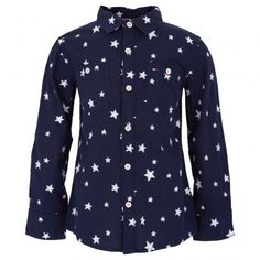 Navy Star Applique Shirt