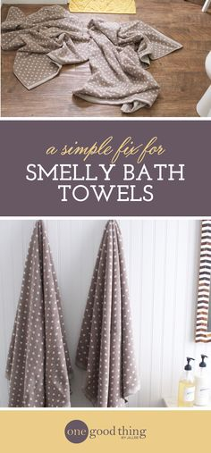If your towels are smelling funky or aren't as absorbent as they used to be, there's an easy fix! Learn how to fix smelly towels in 3 easy steps.