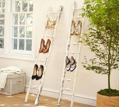 Interesting idea for a vintage shoe display! I think these are actually gingerbread railings.  Hometalk :: DIY Ladder Project Ideas