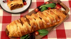 Braided Cheesy Beef Sandwich - Recipes - Best Recipes Ever - Burger and pizza lovers will adore this saucy filling bundled up in store-bought pizza dough for a novel supper sandwich.