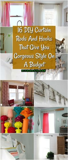 Need a new curtain rod or some great new shower curtain hooks? I love this round up of 16 DIY Curtain Rods And Hooks That Give You Gorgeous Style On A Budget! Diy Home Decor Rustic, Diy Home Decor On A Budget, Decorating On A Budget, Apartments Decorating, Diy Living Room Decor, Diy Home Decor Bedroom, Bedroom Ideas, Drop Cloth Curtains, Diy Curtains