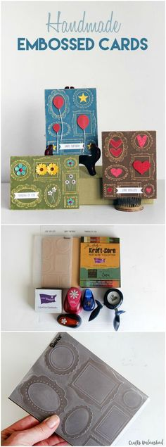 Learn how to emboss cards using our favorite Wall of Frames embossing folder!