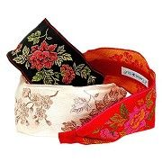 L. Erickson USA Ribbon Headband - Asian Flower