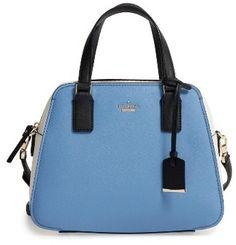 Shop Now - >  https://api.shopstyle.com/action/apiVisitRetailer?id=641562003&pid=uid6996-25233114-59 Kate Spade New York Cameron Street - Little Babe Leather Satchel - Blue  ...