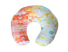 a bright and colorful boppy cover made by anna from the shop for the love of joy {http://www.ftlojoy.com/}.   the boppy pillow is a must-have for any mom wanting a little help propping up baby for feedings or tummy time. most of the covers offered for these pillows are boring or just plain ugly...