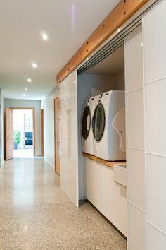 Wain Rd - Pre-Cast Insulated Concrete Panel Passive Solar Home contemporary-laundry-room