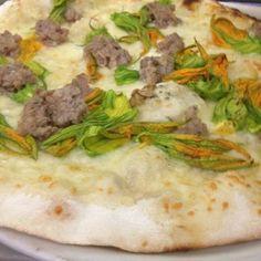 Ai Marmi - Rome, Roma, Italy. Zucchini and sausage pizza