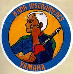 Yamaha Advertising Sticker - Clarinet.