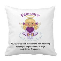 February Birthstone Angel Blonde Pillows  http://www.zazzle.com/february_birthstone_angel_blonde_pillows-189024889866179537?rf=238631258595245556