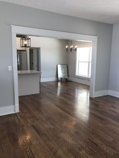Home Decor Ideas For 3 Room Flat Case opening.Home Decor Ideas For 3 Room Flat Case opening. Estilo Craftsman, Craftsman Trim, Craftsman Interior, Craftsman Style Interiors, Grey Walls Living Room, Home Living Room, Living Room Decor, Floor Colors, House Colors