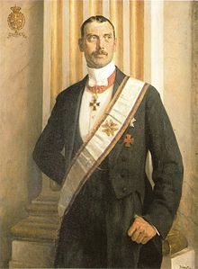 Christian X of Denmark (1870 - 1947). Son of Frederick VIII and Louise of Sweden. He succeeded his father as King.