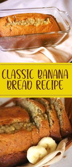 Easy Bread Recipes, Banana Bread Recipes, Cooking Recipes, Healthy Recipes, Hawaiian Banana Bread Recipe, Banana Nut Bread, Easy Banana Bread Muffins, Chocolate Chip Banana Bread, Dessert Bread