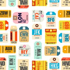 airport tag printables from surlybirdstudio.  Saw these on Rebecca Cooper's pin board.
