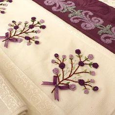 İplerim〰️dmc muline Towels〰️Gonca brand Order from dm d# Brezilyaiş of to… Embroidery Floss Crafts, Embroidery Alphabet, Hand Work Embroidery, Embroidery On Clothes, Embroidery Flowers Pattern, Embroidery Patches, Hand Embroidery Designs, Ribbon Embroidery, Cross Stitch Embroidery