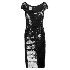 Black Herve Leger Sequin Bandage Cocktail Dress | From a collection of rare vintage evening dresses and gowns at https://www.1stdibs.com/fashion/clothing/evening-dresses/