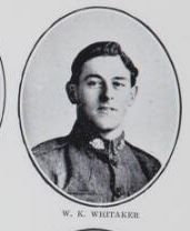 WHITAKER   William   King.   Corporal,   No. 4614.   Born   and   educated   at   Maryborough.  The   son   of   Charles   Whitaker   and   Mary   Ann  Whitaker,   of   Churchill   Street,   Maryborough.