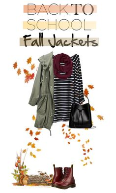 """""""Back to School: Fall Jackets"""" by dooda13 ❤ liked on Polyvore featuring Athleta, Dr. Martens, 3.1 Phillip Lim, BackToSchool, fall2015 and falljacket"""
