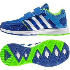 Adidas Running Shoes Kids AZ-Faito Velcro B23788 Blue Green Trainers  Training  Adidas 9f9b7db02