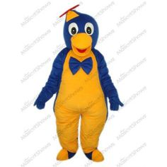 Costume de Mascotte de manchot bleu foncé