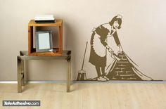Vinilo decorativo La chica de la limpieza de Banksy