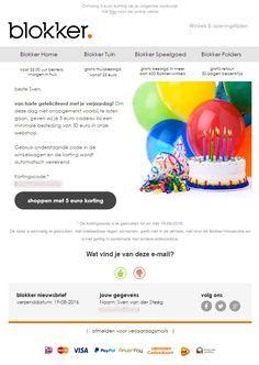 Blokker - verjaardagsmail met een mooie korting Digital Strategy, White Out Tape, Dating