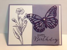 Butterfly Basics, Birthday Card, Stampin' Up!, Rubber Stamping, Handmade Cards